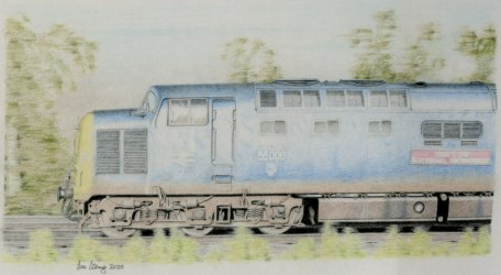 Drawing demo of a Deltic loco