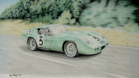 Drawing demo of AC Cobra Le Mans Coupe