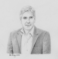 Drawing demo of George Clooney