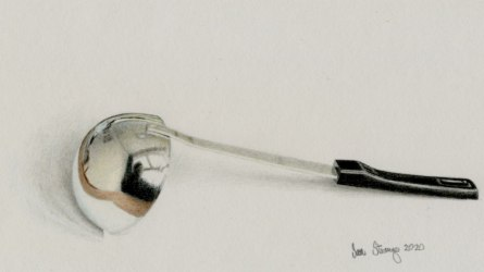 Drawing demo of a realistic ladle
