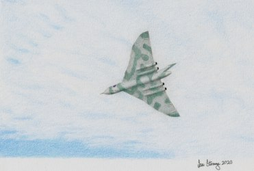 Drawing demo of a Vulcan bomber